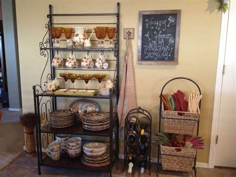 kitchen rack ideas bakers rack kitchen decor happy hour my home decor
