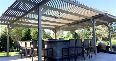 aluminum awnings long island louvered pergola covers shade and shutter systems inc