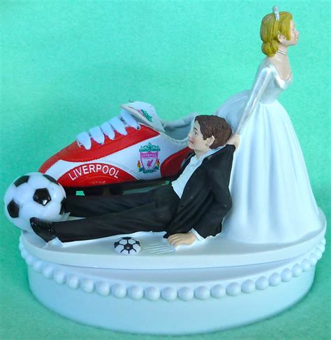 futbol cake topper etsy wedding cake topper liverpool f c football club soccer themed