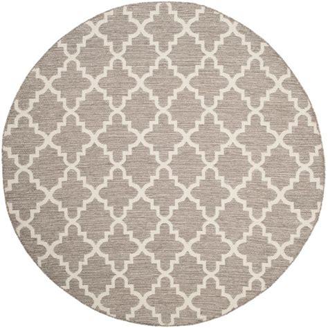 safavieh montauk gray ivory 6 ft x 6 ft area rug
