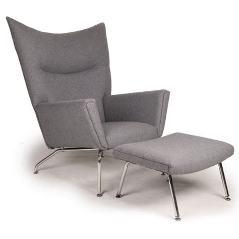 Inexpensive Wing Chairs Kardiel Hans J Wegner Style Wing Chair Ottoman Cadet