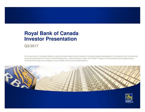 royal bank financial royal bank of canada 2017 q3 results earnings call