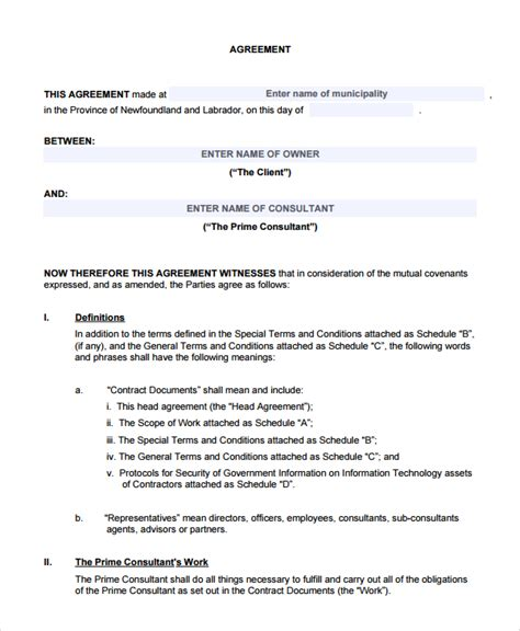 standard agreement template 28 standard agreement template enernovva org