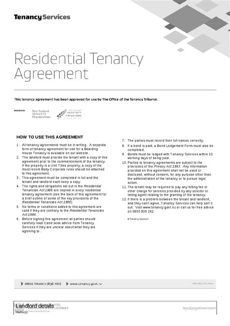 section 34 residential tenancies act residential tenancy agreement tenancy services autos post