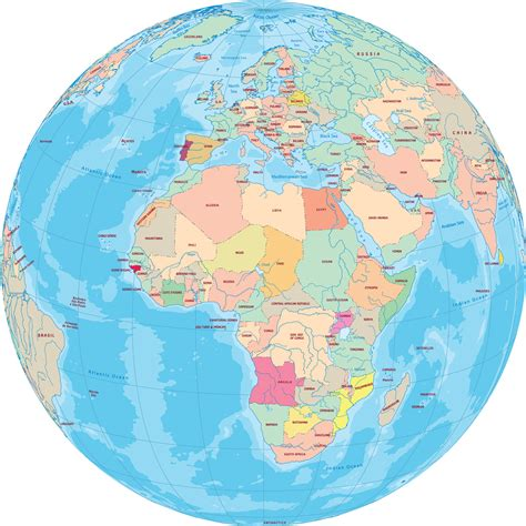 africa map globe africa globe with countries
