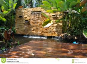 decorative waterfalls for home decorative home garden waterfall pond royalty free