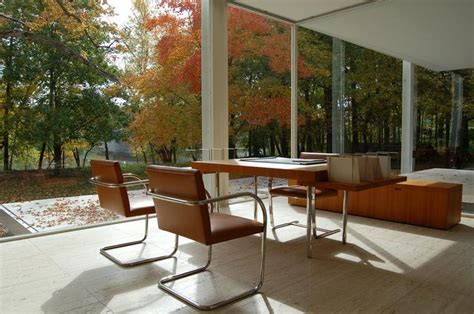 farnsworth house farnsworth house 1951 dining room and view of the fox