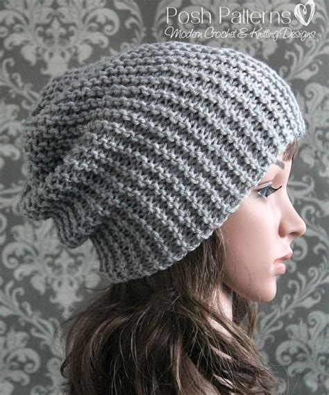 knitting hats for beginners knitting pattern easy beginner knit slouchy hat pattern