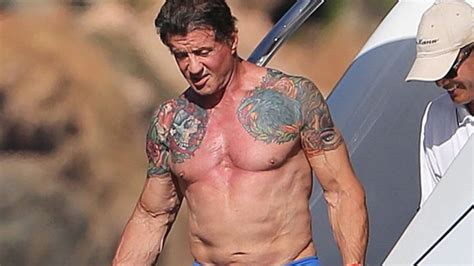 does sylvester stallone have tattoos tattooed actors a barrier that has been broken mediazink