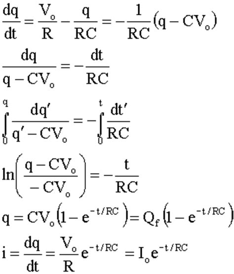 capacitor discharge equation derivation voltage across capacitor equation derivation 28 images charging capacitor equation