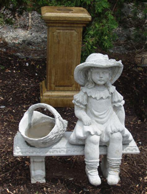 little girl sitting on bench statue girl on bench garden statue boy hot girls wallpaper