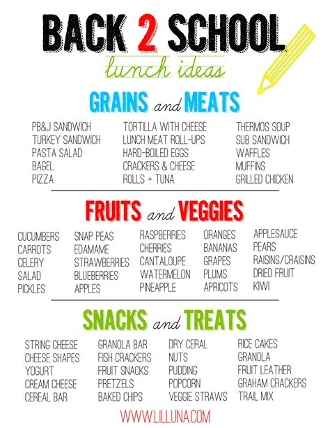 lunch ideas for kids lil luna