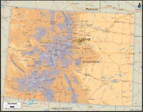 physical map of colorado ezilon maps