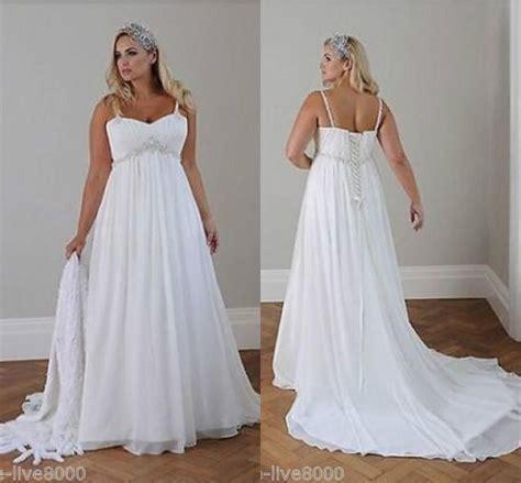 cheap plus size wedding dresses cap sleeves a line white