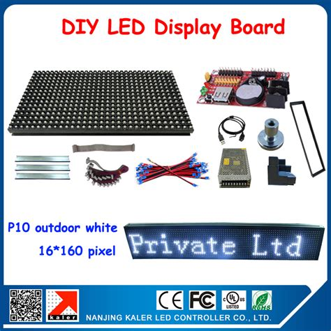 led free shipping best sell free shipping 5pcs p10 white led module sign panels diy led display board wholesale price moving