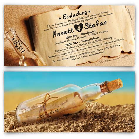 Ausgefallene Hochzeitseinladungskarten by Flaschenpost Hochzeitseinladungen Bestellen
