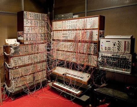 from the comfort of your home control a giant modular synthesizer from the comfort of