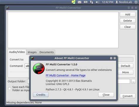 format audio ubuntu latest ff multi converter for ubuntu 13 04 12 10 12 04 11