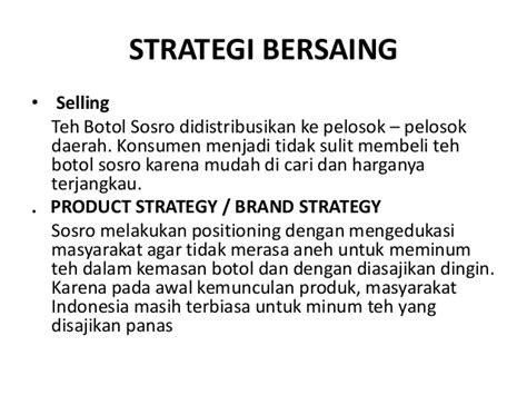 Strategi Penetapan Teh Botol Sosro best practice scm pt sinar sosro