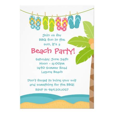 summer beach party invitation 5 quot x 7 quot invitation card zazzle