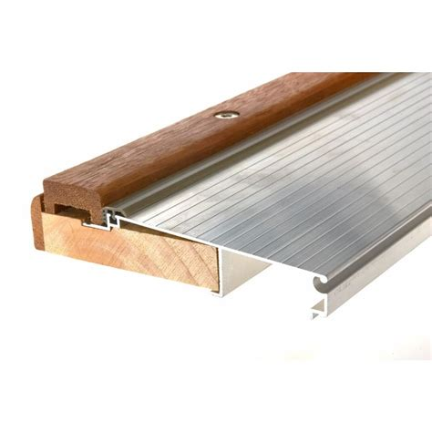 Aluminum Door Thresholds Exterior King E O 5 5 8 In X 36 In Adjustable Threshold Taoc36a The Home Depot