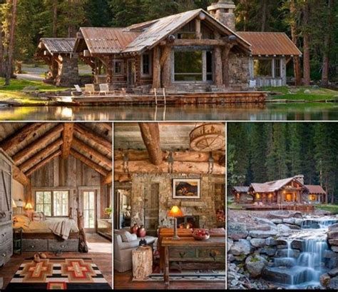Cabin By The Water by Log Cabin On The Water Country Things I Would Like
