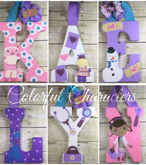 doc mcstuffins wall letters room decor by colorfulcharacters