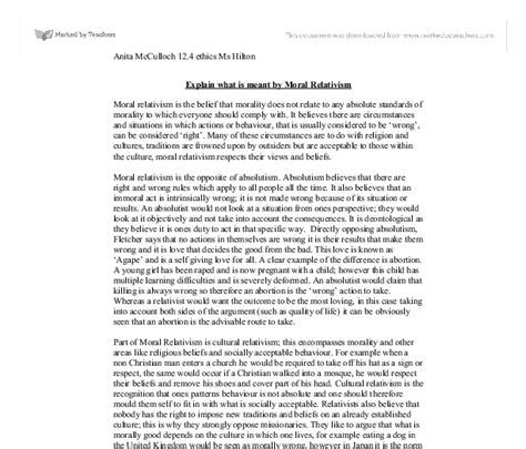 Morality Essay by Cultural Relativism Essay