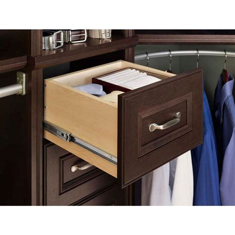 closetmaid narrow drawer kit new closetmaid impressions 16 in chocolate narrow drawer