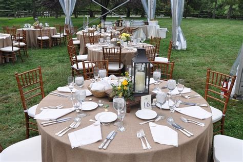 wedding buffet table setting rustic and elegant wedding on a family farm eventquip