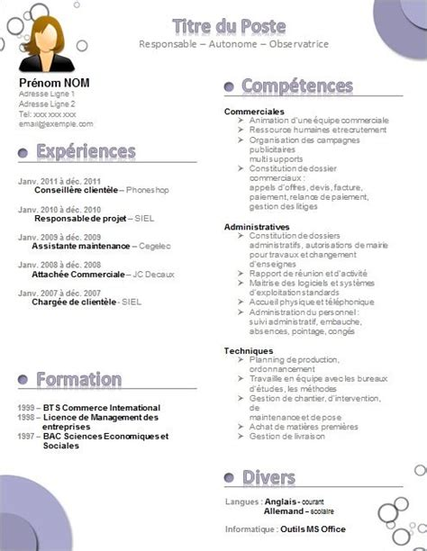Modele Gratuit Cv by 1000 Ideas About Exemple Cv On Resume