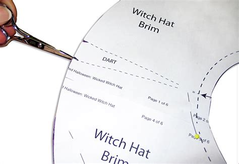 How To Make A Flat Brimmed Paper Hat - the dead roses witch hat sew4home classic