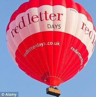 Up, up and away for Theo Paphitis and Peter Jones as Red