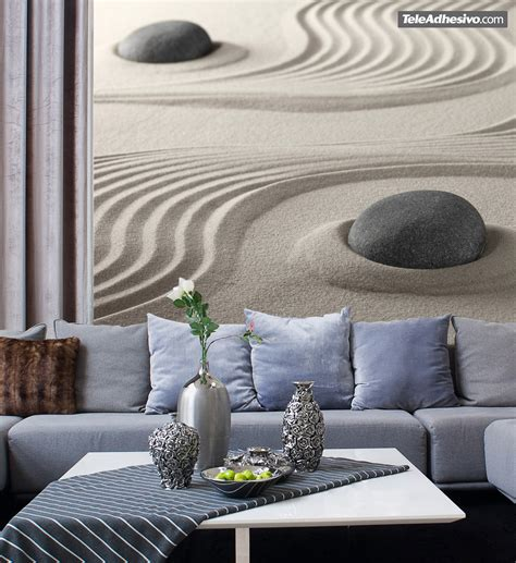 zen wall murals zen garden