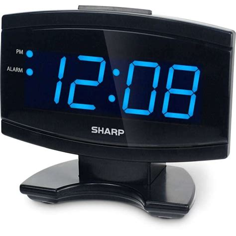 digital electric alarm clock blue led large display sharp