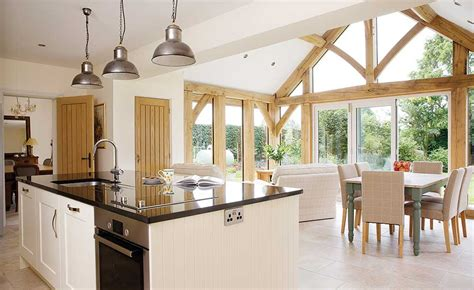 gabled conservatory extension kitchen extensions housetohome co uk how to add an oak frame extension homebuilding renovating