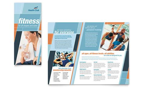 personal brochure templates personal phlet templates sports fitness