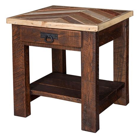 pallet wood end table pallet wood end table with chevron pattern from eco