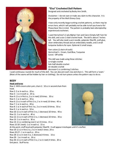 amigurumi elsa pattern free elsa crocheted doll pattern designed and crocheted by