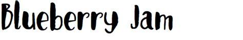 Blueberry Jam Keysha Series identifont emily spadoni