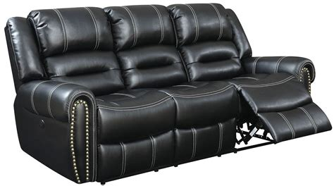 black power reclining sofa frederick black power reclining sofa from furniture of