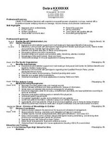 Patient Access Specialist Sle Resume by Patient Access Specialist Resume Exle Center Tallapoosa