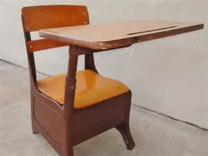 vintage childrens chair and desk combination