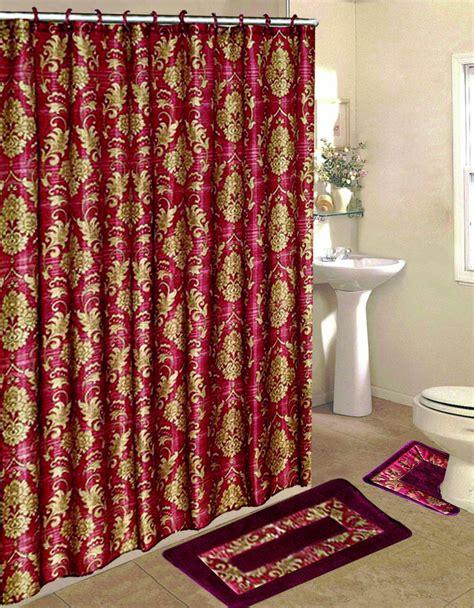 burgundy shower curtain sets 15pc burgundy antique bathroom bath mat set carpet contour