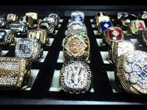 my sports chionship rings and jewelry collections