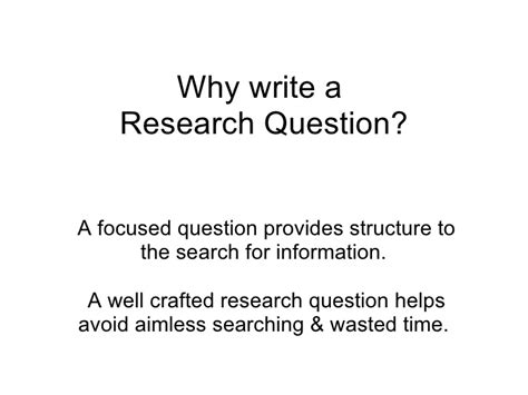 how to write a question paper why write a research question
