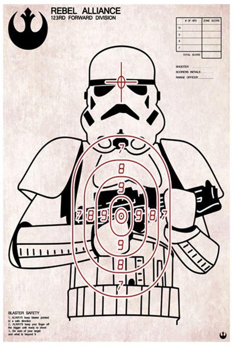 free printable shooting targets funny stormtrooper shooting target art print 18 00 via etsy