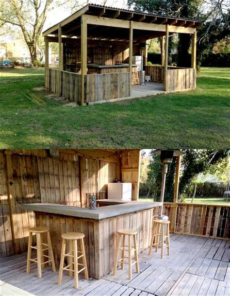 Outside Bar Thousands Of Recycled Pallet Furniture Ideas Pallet