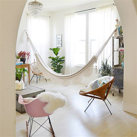 Hammock Indoor In With Hammocks Savvy Surrounding Style
