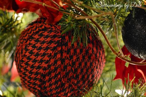 christmas bulbs demcoration with fabric fabric ornaments simple diy project surroundings by debi